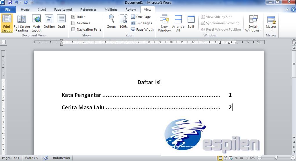 cara membuat daftar isi otomatis ms word 2013 cara membuat