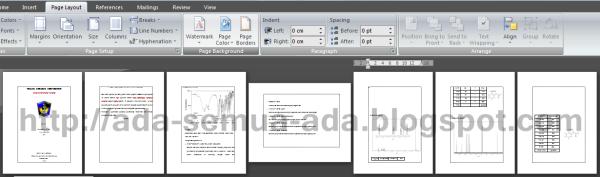 cara membuat halaman Landscape dan Portrait dalam satu document pada Microsoft Word 2007